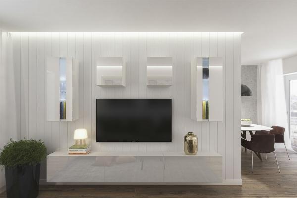 Mueble de salón ONTARIO blanco brillante – Prime-Home España