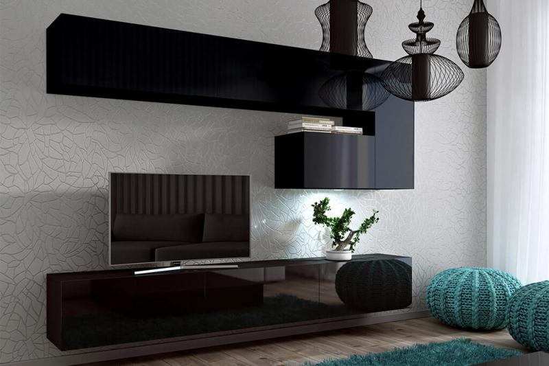 Mueble de Salón Negro Brillante » Enigma » Prime-Home España   Muebles para el Hogar y Oficina   www.prime-home.es