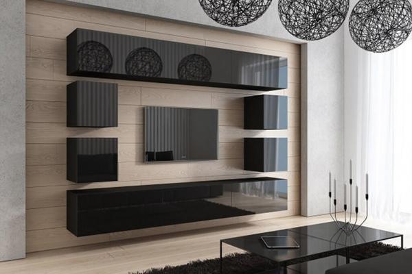 Mueble de Salón Negro Brillante » BOD » Prime-Home España | Muebles para el Hogar y Oficina | www.prime-home.es