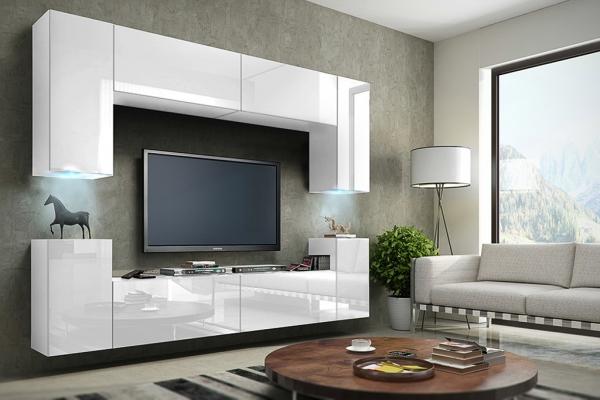 Mueble de salón blanco brillante » Berg » Prime-Home España | Muebles para el Hogar y Oficina | www.prime-home.es