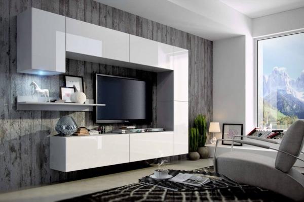 Mueble de Salón Blanco Brillante » Mustang » Prime-Home España | Muebles para el Hogar y Oficina | www.prime-home.es