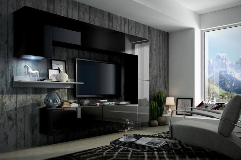 Mueble de Salón Negro Brillante » Mustang » Prime-Home España | Muebles para el Hogar y Oficina | www.prime-home.es