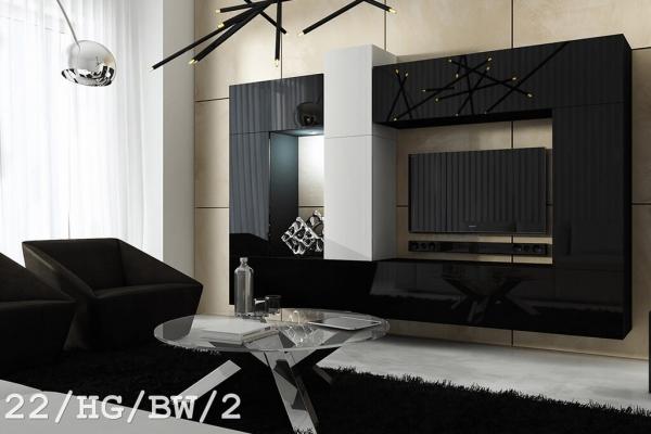 Mueble de salón SIZE negro y blanco – Prime-Home España | Muebles para el Hogar y Oficina | www.prime-home.es