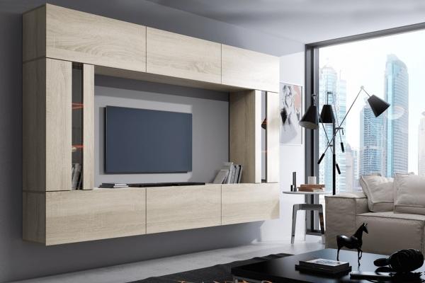 Mueble de salón ZARA sonoma – Prime-Home España – Muebles para el Hogar y Oficina | www.prime-home.es