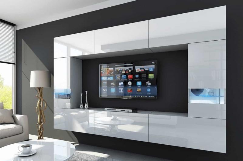 Mueble de salón FUEGO blanco brillante – Prime-Home España | Muebles para el Hogar y Oficina | www.prime-home.es