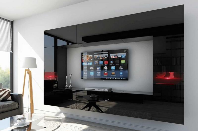 Mueble de salón FUEGO negro brillante – Prime-Home España | Muebles para el Hogar y Oficina | www.prime-home.es