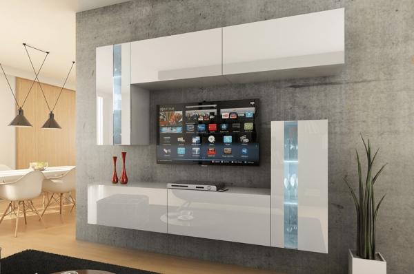 Mueble de salón VICTORIA blanco brillante – Prime-Home España • Muebles para el Hogar y Oficina | www.prime-home.es
