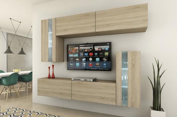 Mueble de salón VICTORIA sonoma – Prime-Home España • Muebles para el Hogar y Oficina | www.prime-home.es