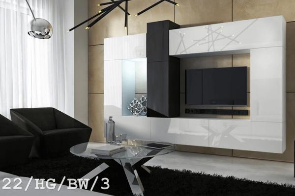 Mueble de salón modular » mueble modural colgante » blanco brillante » SIZE (C22/HG/BW/3) » Prime-Home España | Muebles para el Hogar y Oficina | www.prime-home.es