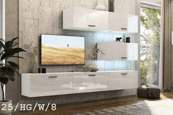 El mueble de salón SEMI blanco brillante – Prime-Home España – Muebles para el Hogar y Oficina | www.prime-home.es