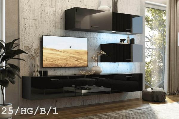 Mueble de salón SEMI negro brillante – Prime-Home España – Muebles para el Hogar y Oficina | www.prime-home.es