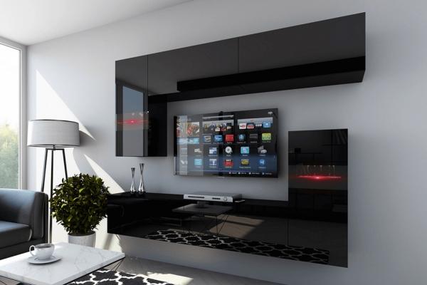 Mueble de salón ENEA negro brillante– Prime-Home España | Muebles para el Hogar y Oficina | www.prime-home.es