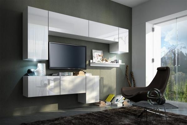Mueble de salón YOGA blanco brillante – Prime-Home España – Muebles para el Hogar y Oficina – www.prime-home.es