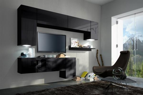 Mueble de salón YOGA negro brillante – Prime-Home España – Muebles para el Hogar y Oficina – www.prime-home.es