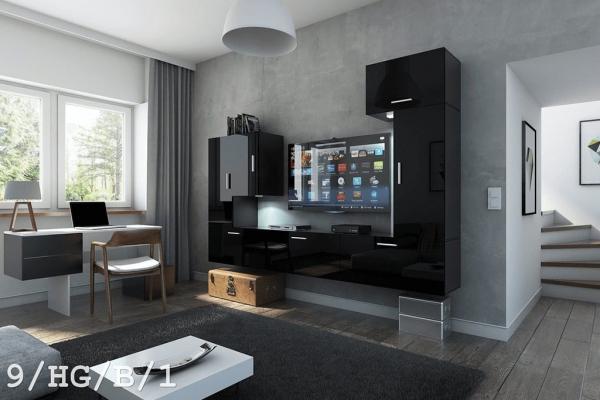 Mueble de Salón Venecia – negro brillante 9/HG/B/1