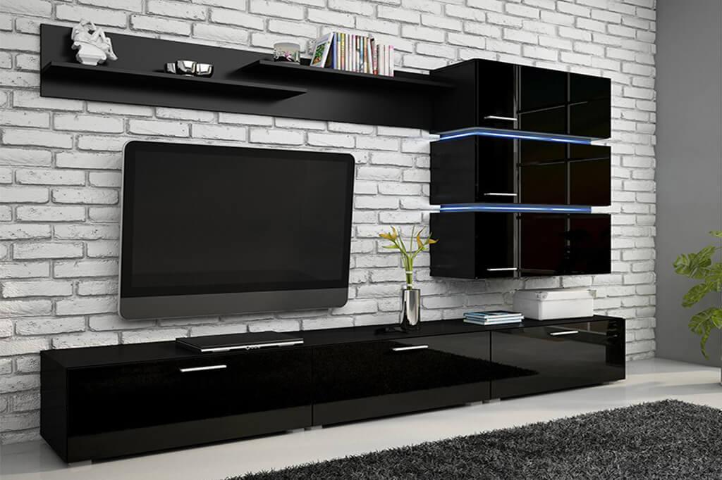Mueble de Salón Comedor Tokio - negro brillante – Prime-Home España