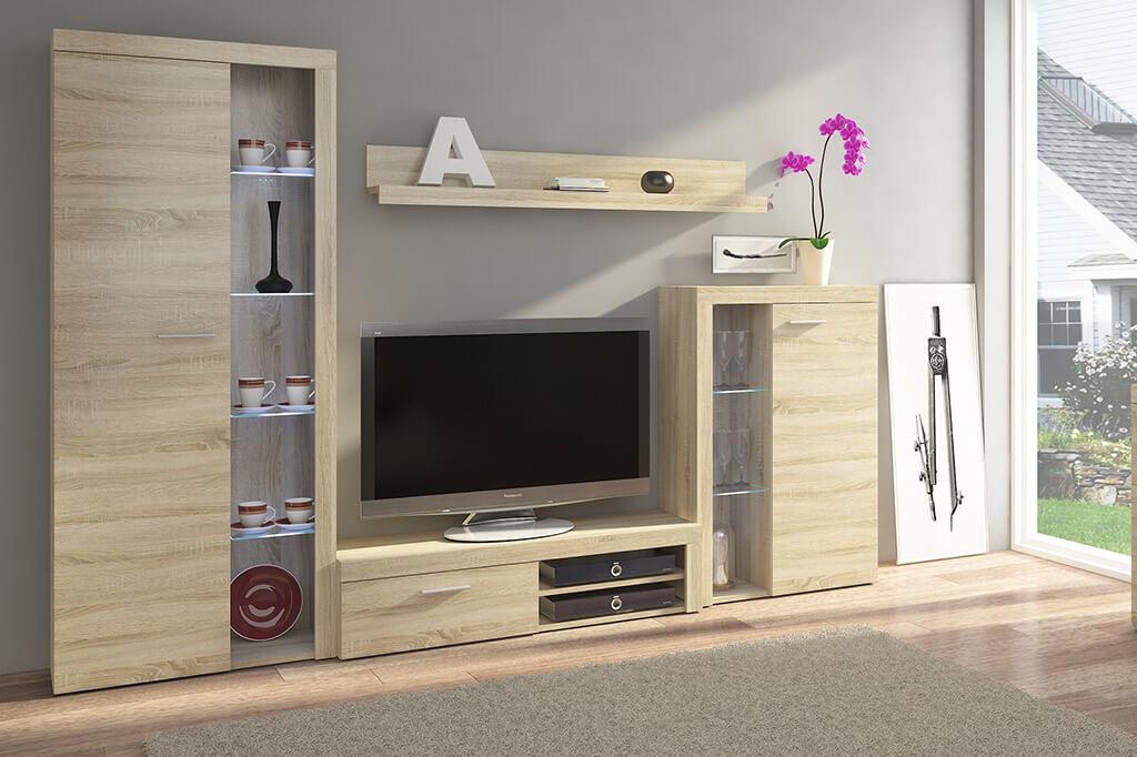Mueble de salón comedor Rumba - roble - Prime Home España