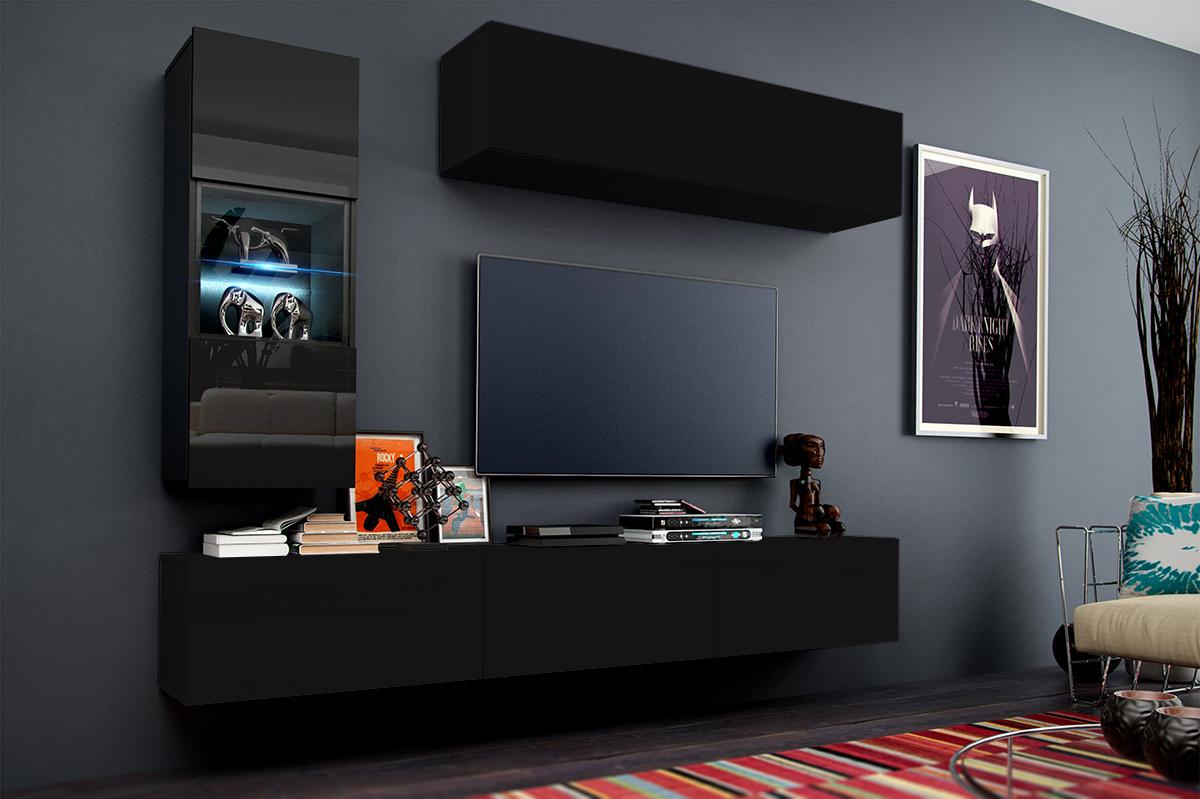 Mueble de Salón KORS C12 – Negro Mate-Brillante — Muebles para Casa ...