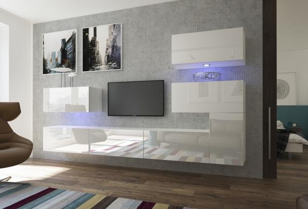 Mueble de Salón Blanco Brillante – Manhattan N123 | Prime-Home España | Muebles para el Hogar y Oficina | www.prime-home.es